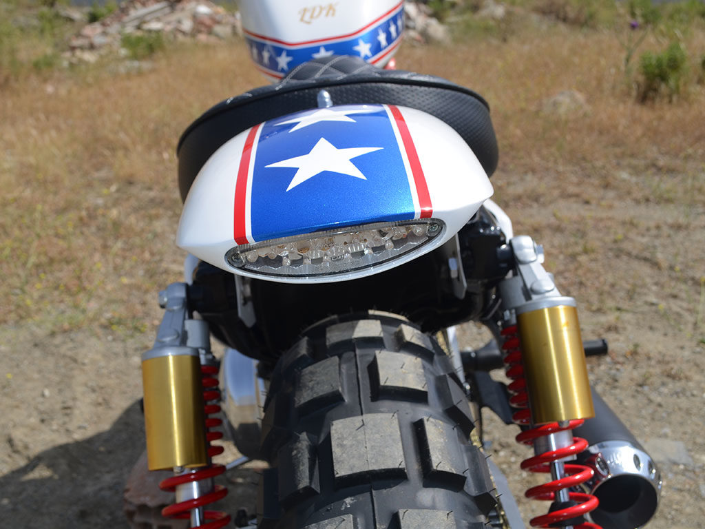 Daredevil, a scrambler custom motorcycle by Lord Drake Kustoms