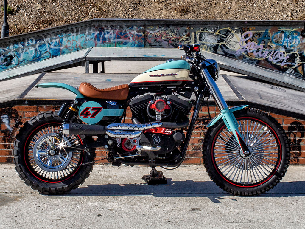 Bultracker 47, a Harley Scrambler by Lord Drake Kustoms