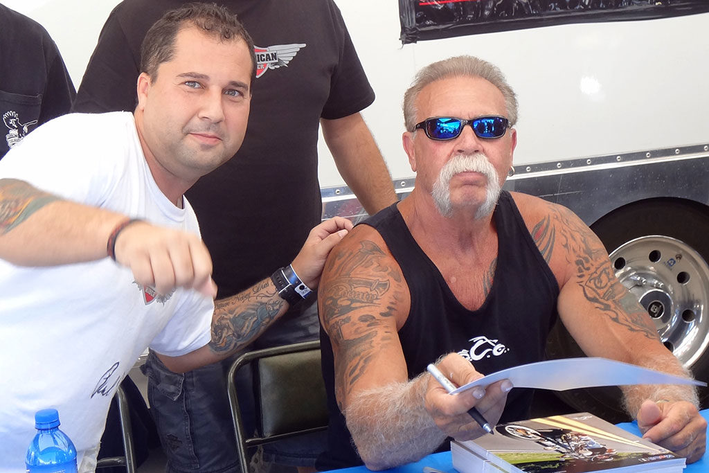 Fran Manen with Paul Teutul of American Chopper