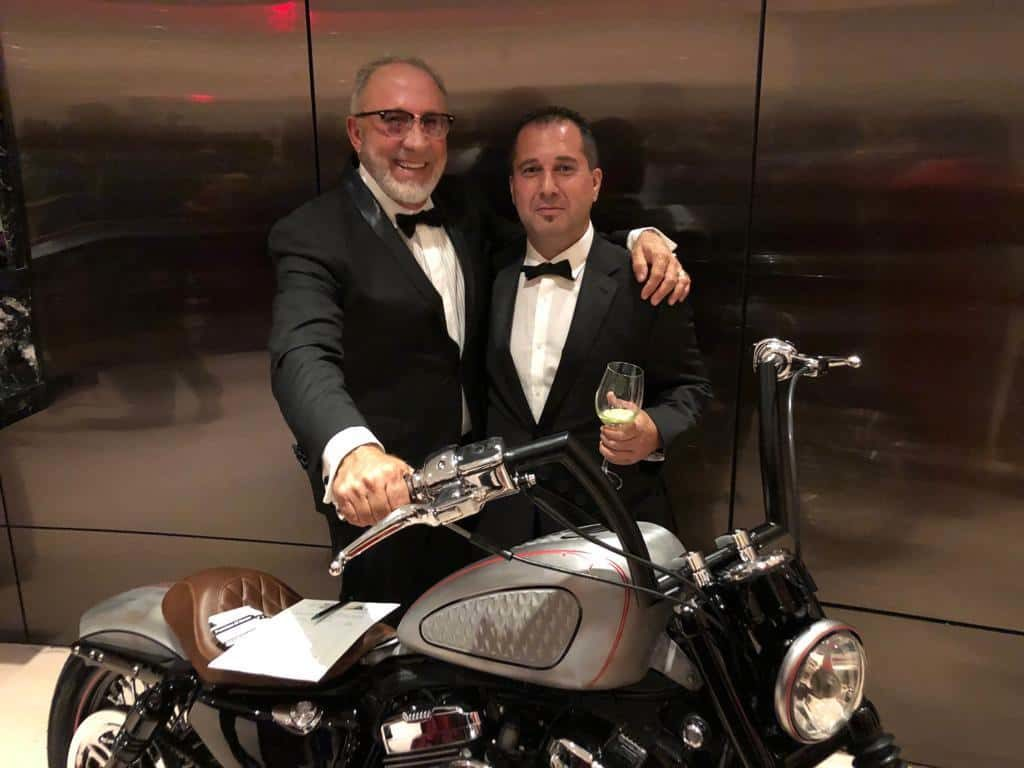 Fran Manen with Emilio Estefan